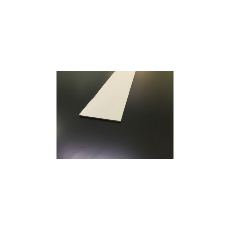 Plat PVC blanc - Longueur 1m30