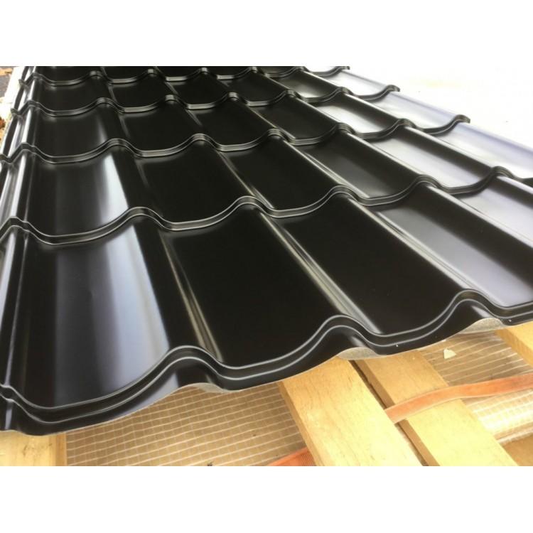 panneau tuile coloris noir pour toiture m tallique prix 8 70 m2. Black Bedroom Furniture Sets. Home Design Ideas